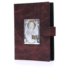 Lectionary cover with Snap in Silver Leather s2