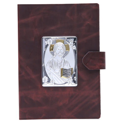 Lectionary cover with Snap in Silver Leather 1