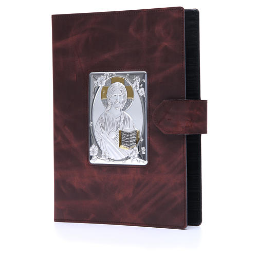 Lectionary cover with Snap in Silver Leather 2