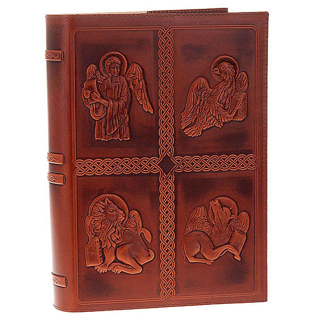 Etui lectionnaire, cuir 4 évangiles 4