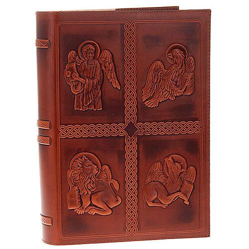 Etui lectionnaire, cuir 4 évangiles 1