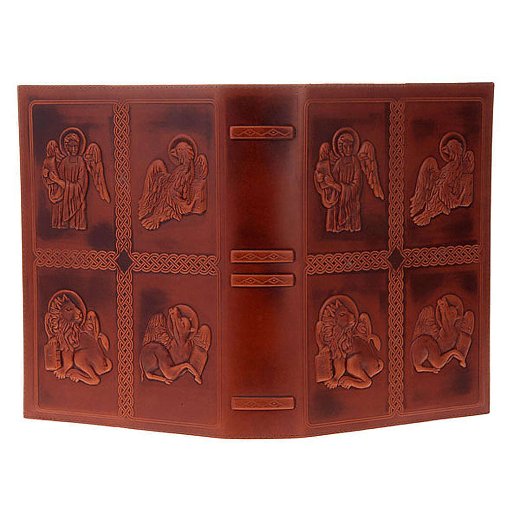 Lectionary cover, real leather with 4 Evangelists 4