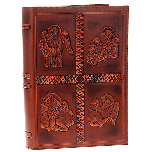 Lectionary cover, real leather with 4 Evangelists 1
