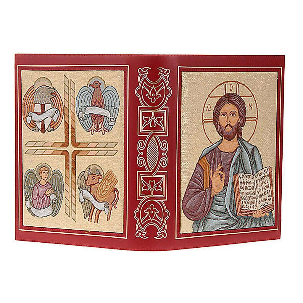 Lektionareinband echte Leder Kristus Pantocratore gestickt 4