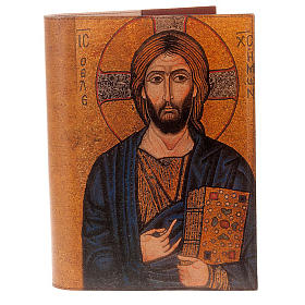 Lectionary cover in real leather, Pantocrator icon s1