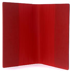 Lektionareinband echte Leder Schreibern Evangelium Rot s4