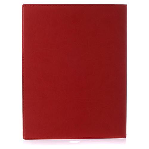 Lektionareinband echte Leder Schreibern Evangelium Rot 3
