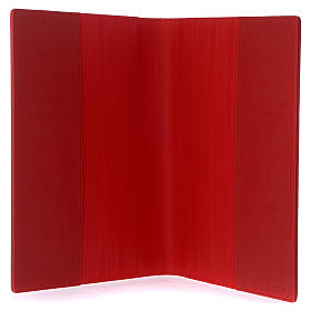 Lectionary cover in real leather, Evangelists, red s4
