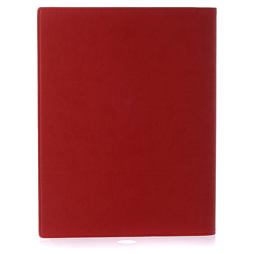 Lectionary cover in real leather, Evangelists, red 3