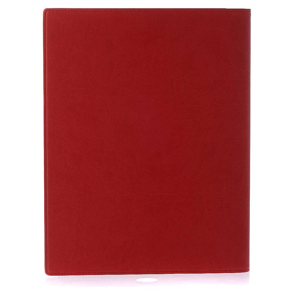 Etui lectionnaire, cuir, évangiles, rouge 4
