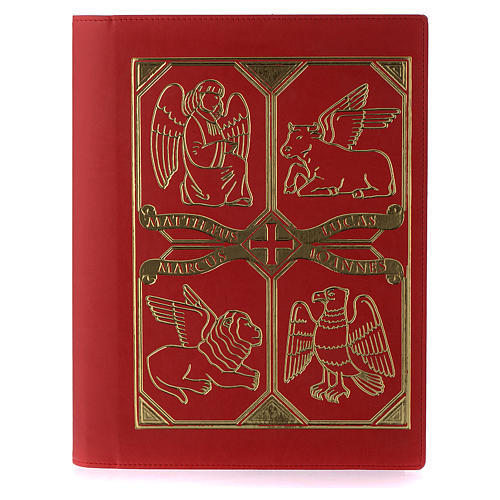 Etui lectionnaire, cuir, évangiles, rouge 1