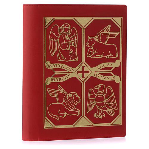 Etui lectionnaire, cuir, évangiles, rouge 2