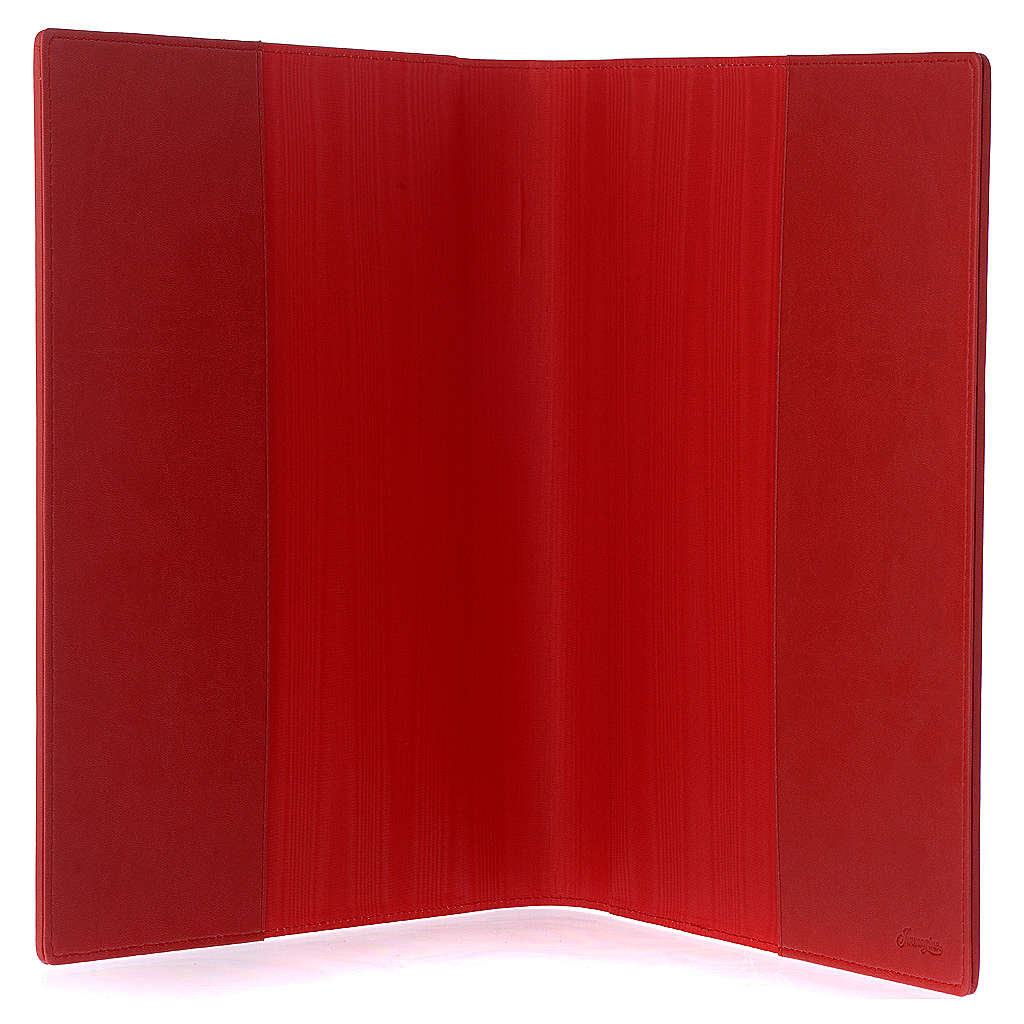 Red Lectionary Cover in Real Leather, Evangelists 4