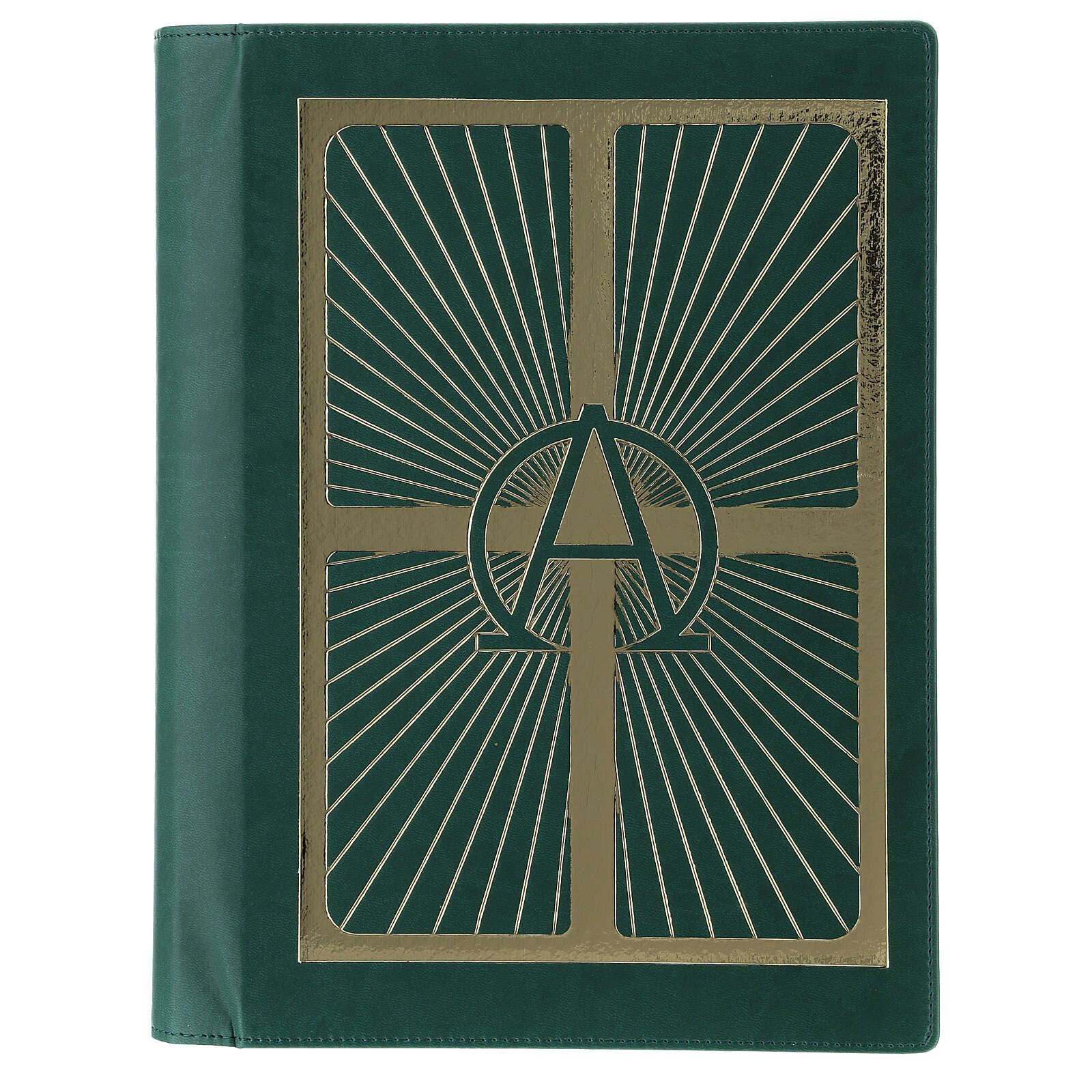Lectionary cover in real leather, Alpha and Omega 4