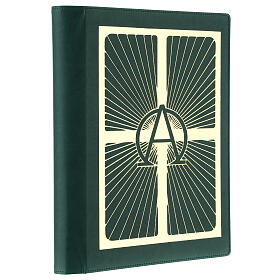 Lectionary cover in real leather, Alpha and Omega s3