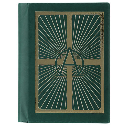 Lectionary cover in real leather, Alpha and Omega 1