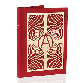 Lectionary cover in real leather, Alpha and Omega s4