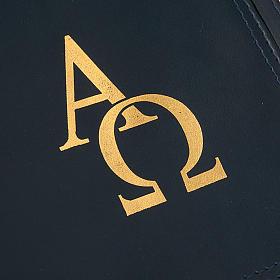 Copri lezionario pelle alfa omega int. rosso s4