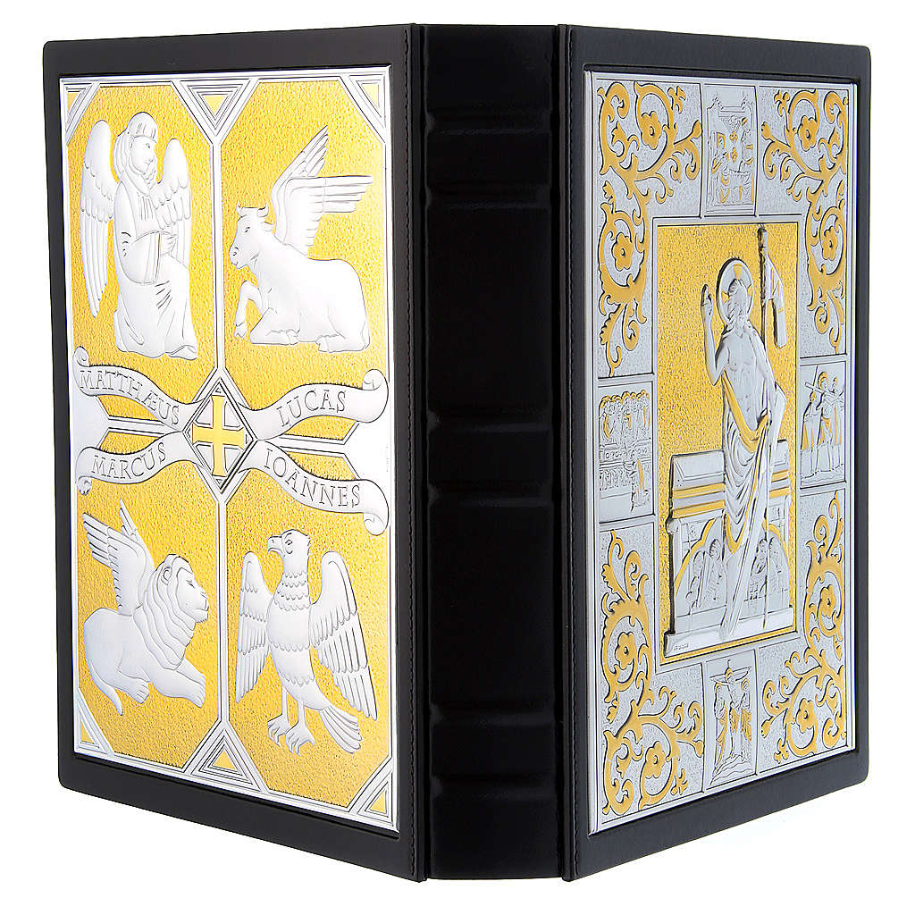 Leather slipcase for Missal with silver/gold plaque 31.5x22. 4