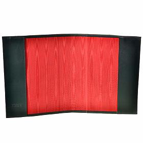 Couverture pour lectionnaire cuir alpha oméga vert foncé s4