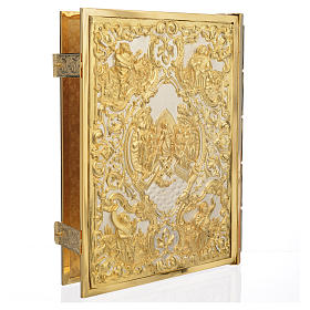Missal Cover in Gold Brass with Crucifixion Scene s2