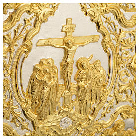 Missal Cover in Gold Brass with Crucifixion Scene s5