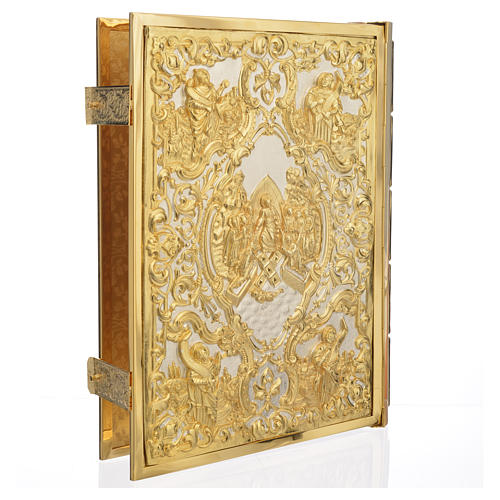 Missal Cover in Gold Brass with Crucifixion Scene 2