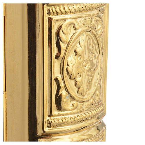 Missal Cover in Gold Brass with Crucifixion Scene 6