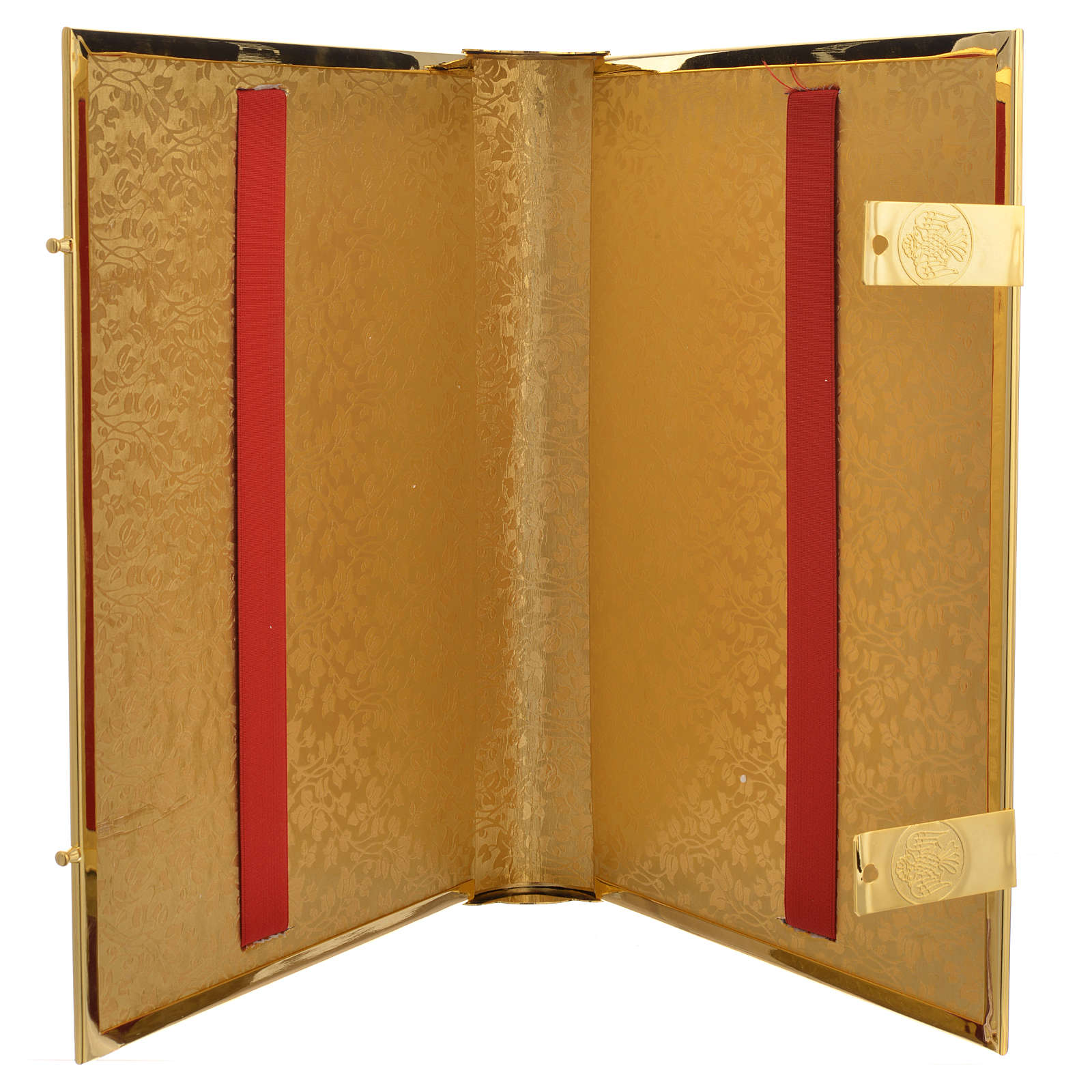 Coprilezionario ottone dorato con smalti 4