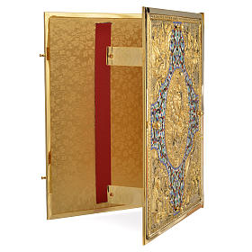 Coprilezionario ottone dorato con smalti s11
