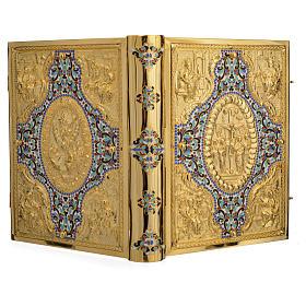Coprilezionario ottone dorato con smalti s13