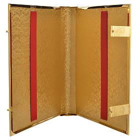 Coprilezionario ottone dorato con smalti s4