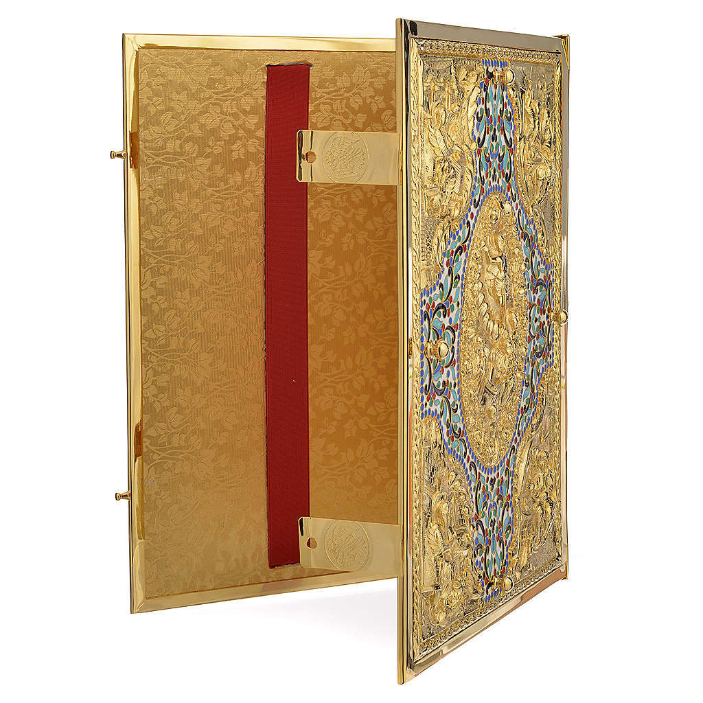 Gold Brass Lectionary Cover with Varnishes 4