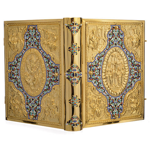 Gold Brass Lectionary Cover with Varnishes 13