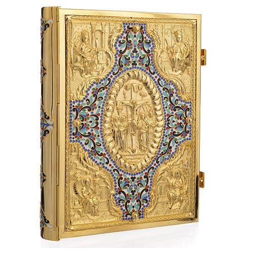 Gold Brass Lectionary Cover with Varnishes 1