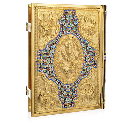 Gold Brass Lectionary Cover with Varnishes 2