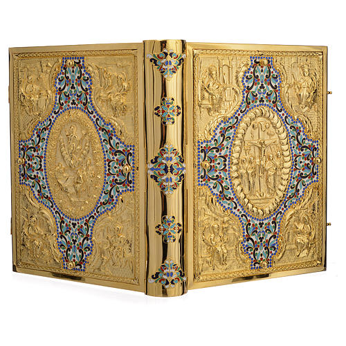 Gold Brass Lectionary Cover with Varnishes 5