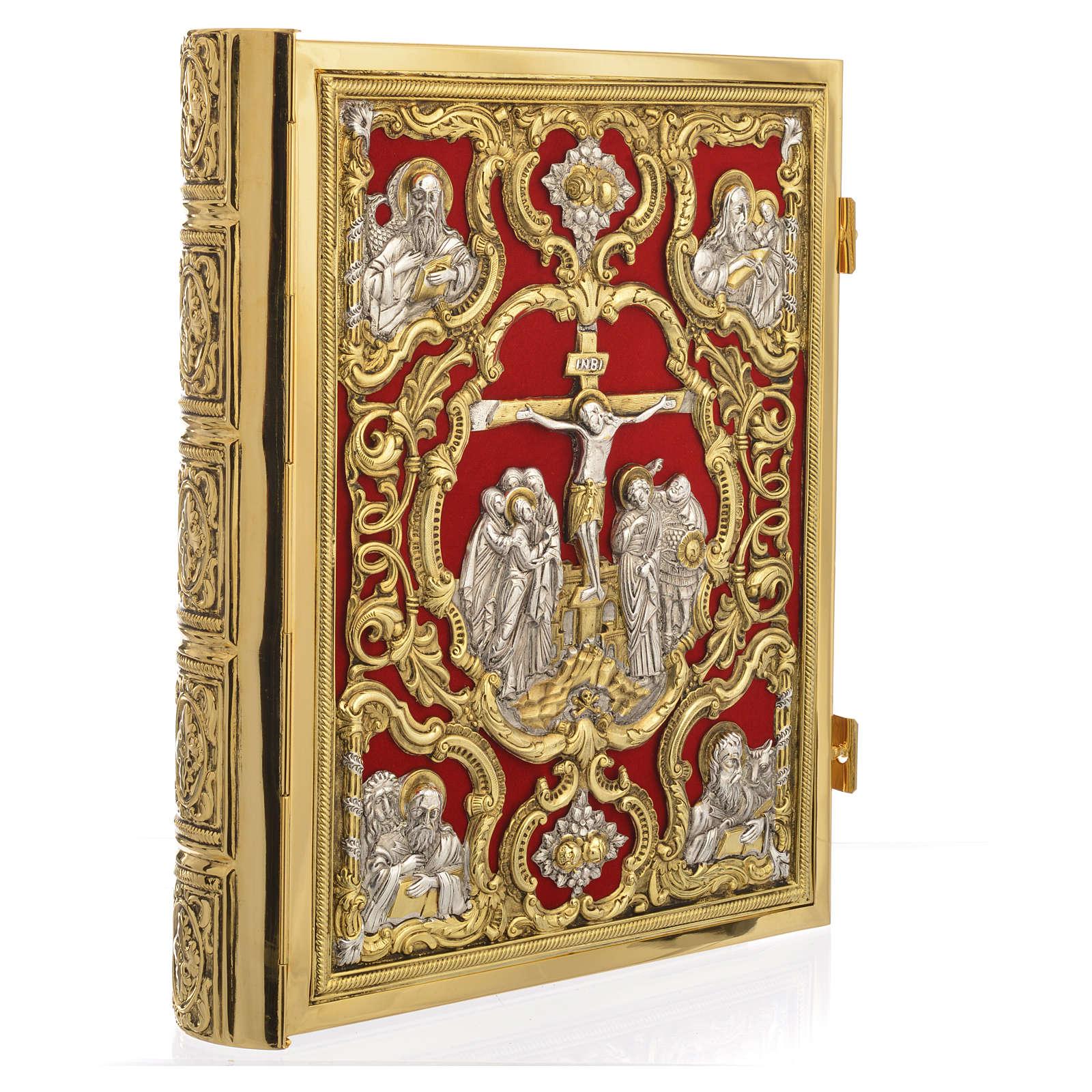 Coprilezionario ottone dorato Gesù Crocifisso 4
