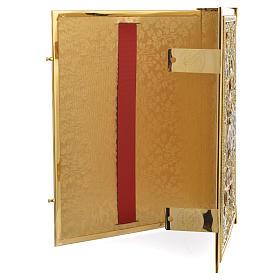 Coprilezionario ottone dorato Gesù Crocifisso s3