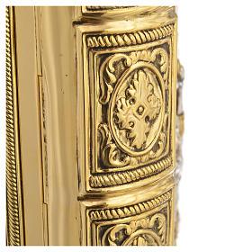 Coprilezionario ottone dorato Gesù Crocifisso s6