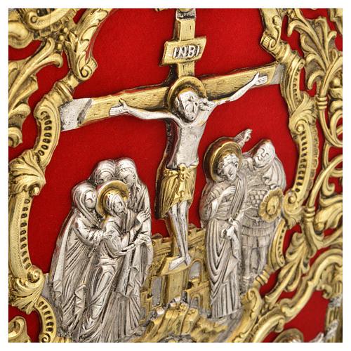 Coprilezionario ottone dorato Gesù Crocifisso 5