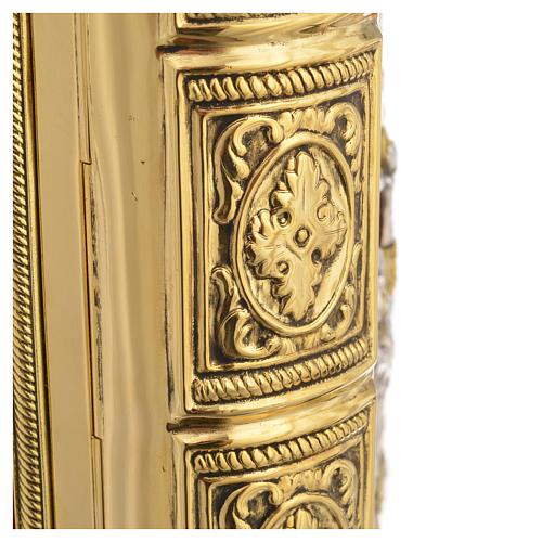Coprilezionario ottone dorato Gesù Crocifisso 6