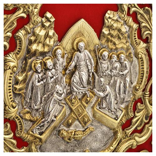 Coprilezionario ottone dorato Gesù Crocifisso 7