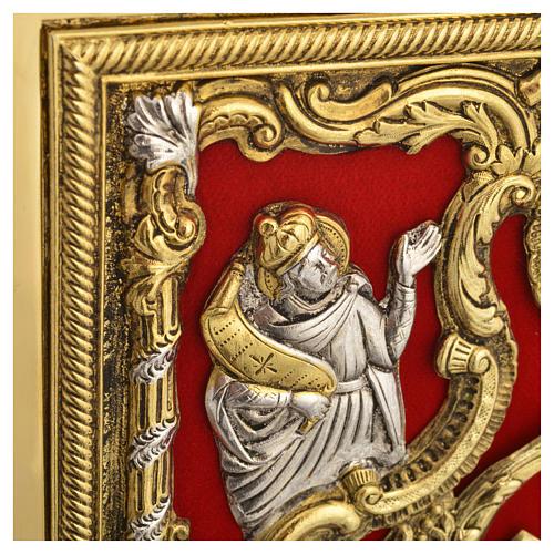 Coprilezionario ottone dorato Gesù Crocifisso 8