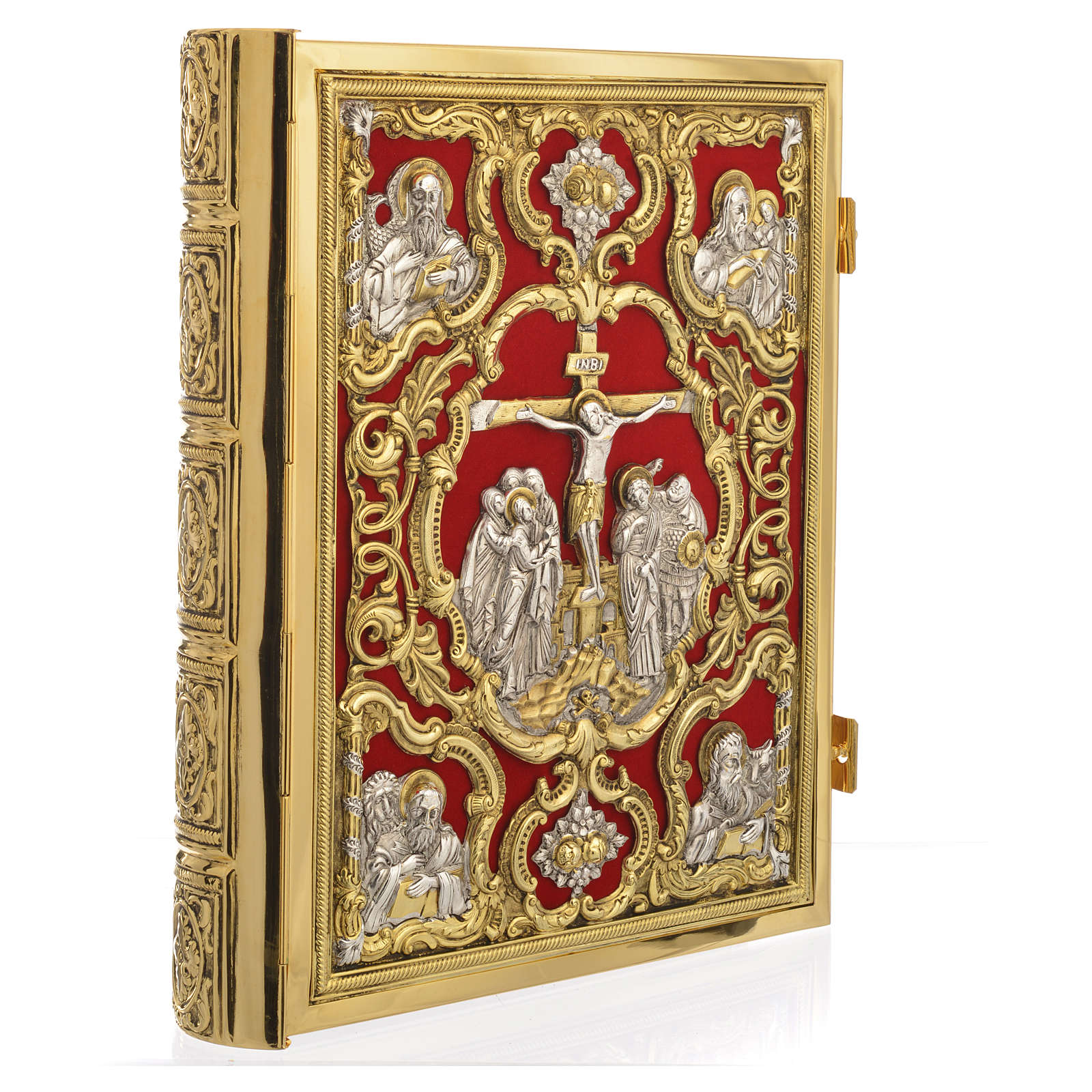 Missal Cover in Gold Brass with Jesus on Cross 4