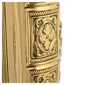Missal Cover in Gold Brass with Jesus on Cross s6