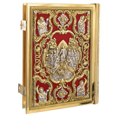 Missal Cover in Gold Brass with Jesus on Cross 2
