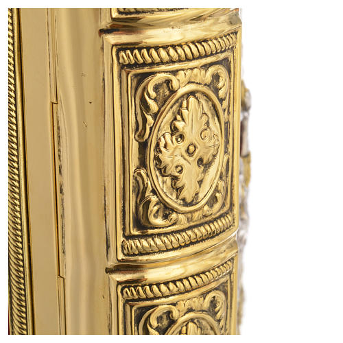 Missal Cover in Gold Brass with Jesus on Cross 6