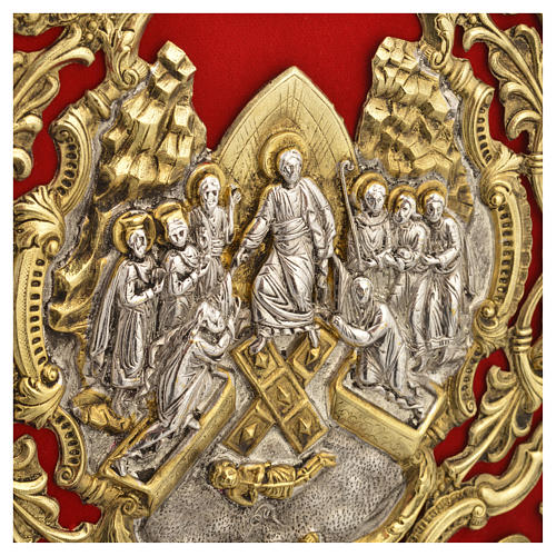 Missal Cover in Gold Brass with Jesus on Cross 7