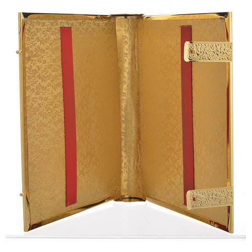 Coprilezionario ottone dorato con smalti Gesù Evangelisti 5